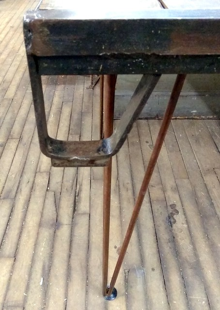 Elm and Steel Pallet Table