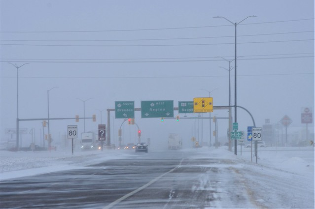 Storm on Trans Canada Highway