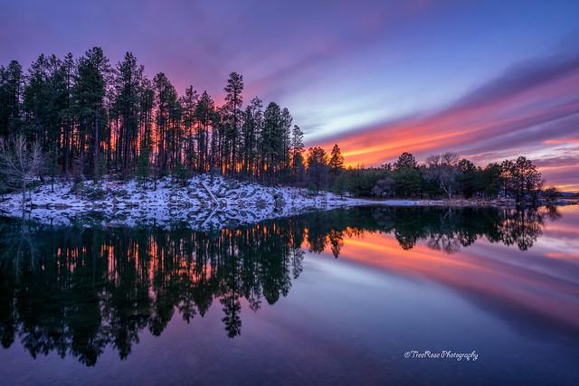 Winter's Kaleidoscopic Sunset