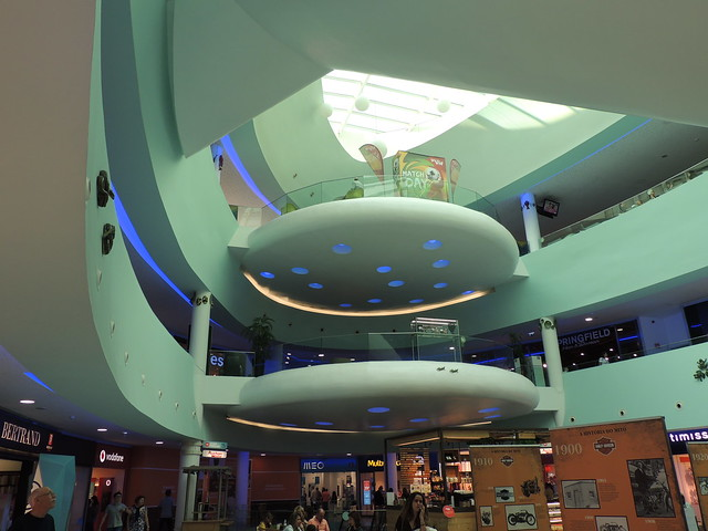 Space-age shopping mall