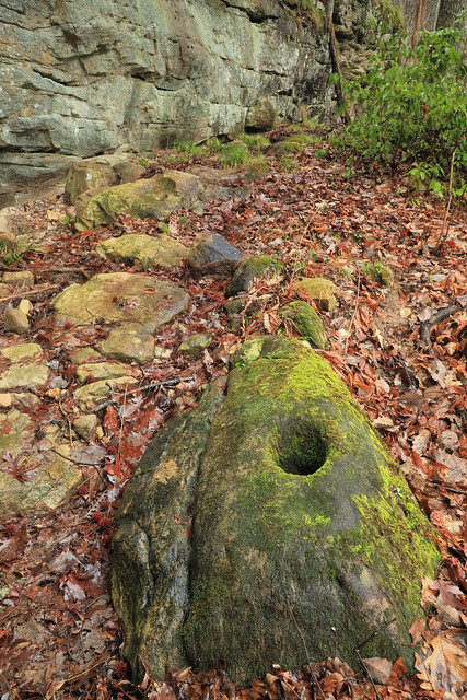 Bedrock Mortar, Looted Shelter, Alabama 1