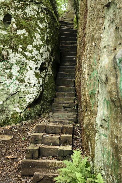 Stairway to the boulder maze