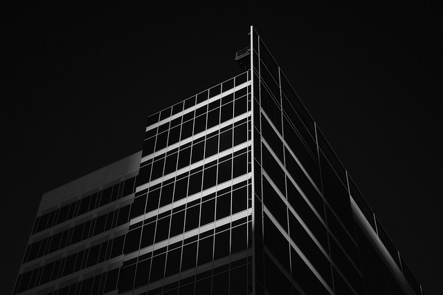 New Upper Kirby offices at sunset (infrared)