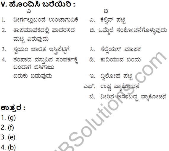 KSEEB Solutions for Class 8 Science Chapter 15 Ushna in Kannada 8