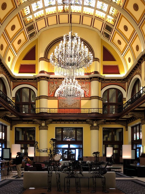 Incredible beauty retained in this converted old train station, now the Union Station Hotel. Nashville, TN.