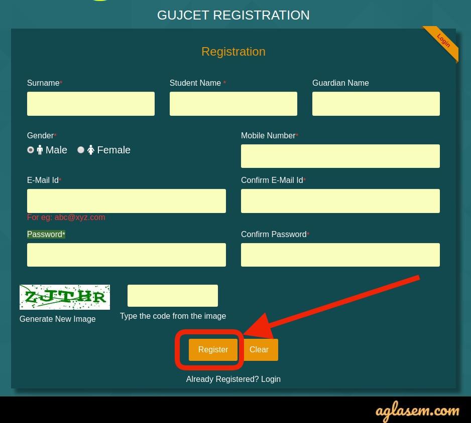 GUJCET Registration