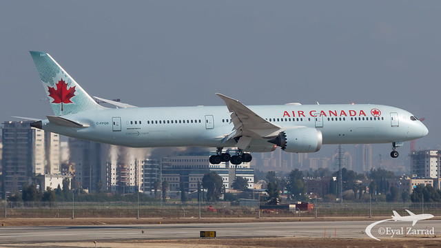 TLV - Air Canada Boeing 787-9 C-FPQB