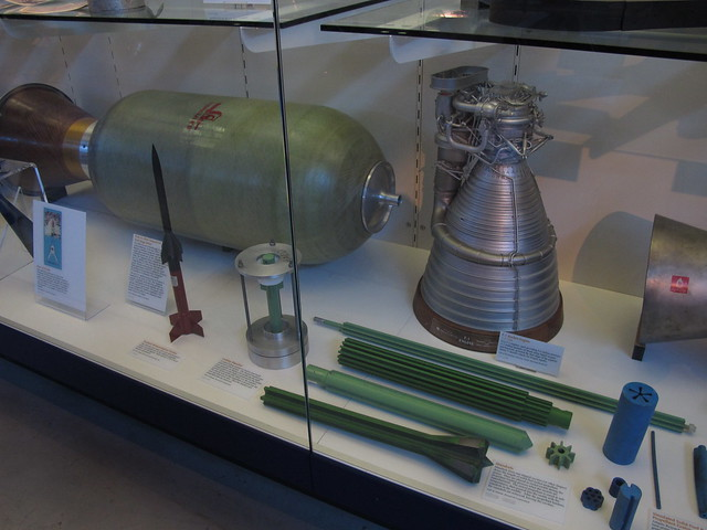 F-1 Rocket Engine Model, Solid Rocket Fuel Mandrels