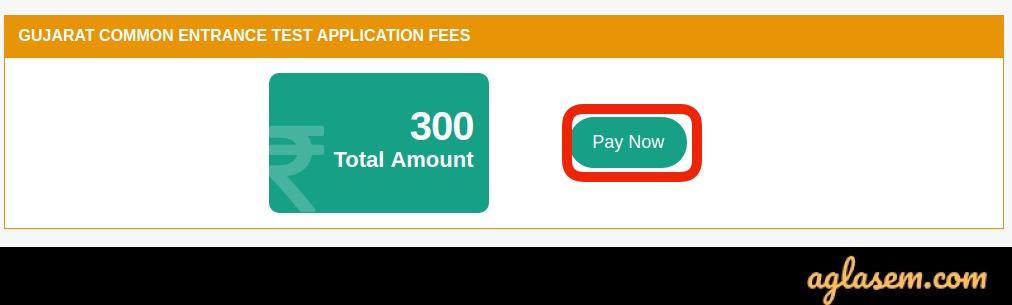 GUJCET 2020 Application Fee