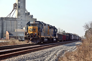 CSX Road Slug 2306 (built as C&O GP35 3562) in Selma, NC on January 29, 2013