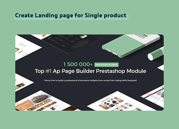 best drag and drop ap page builder Prestashop module-Create Landing page for Single product
