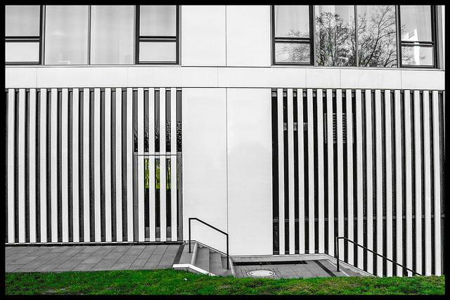 ...moderne Architektur im Grünen...