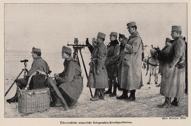 Austro-Hungarian telegraph station 1915