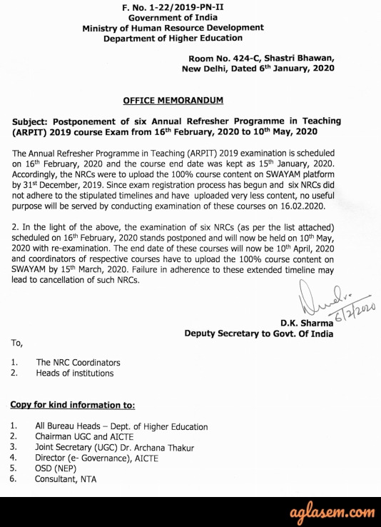 ARPIT 2020: Annual Refresher Programme in Teaching by NTA