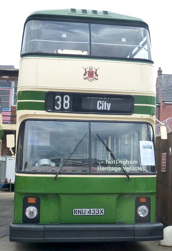 RNU 433X 'Nottingham City Transport' No. 433. Leyland Atlantean AN68/ East Lancs on Dennis Basford's railsroadsrunways.blogspot.co.uk'