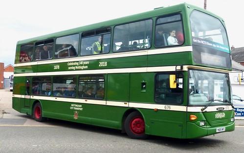 YN05 WFE 'Nottingham City Transport' No. 676. Scania N94UD / East Lancs Omnidekka on Dennis Basford's railsroadsrunways.blogspot.co.uk'