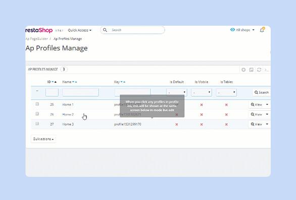 best drag and drop ap page builder Prestashop module-Easily create numerous profiles as you wish