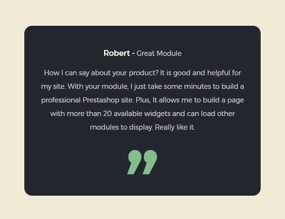 best drag and drop ap page builder Prestashop module