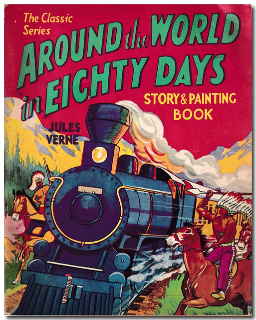 Book Cover Around the World in Eighty Days Story & Painting Book