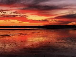 Sunset over Swansea Bay