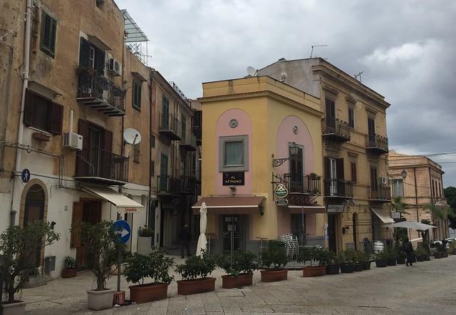 Monreale street corner in Palermo, Sicily.
