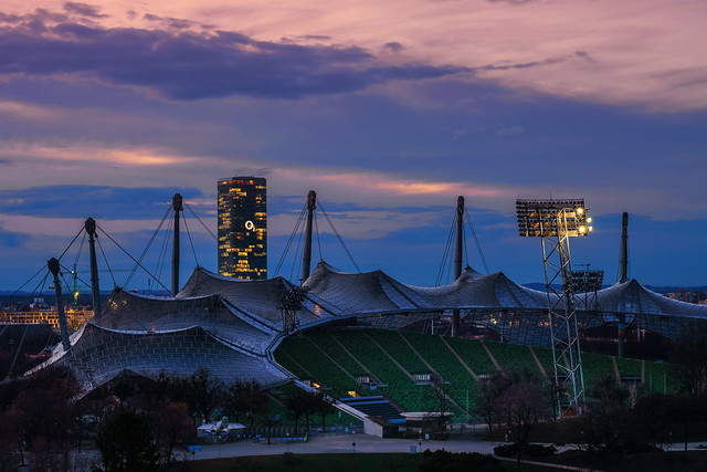 Olympiastadion und O2 Tower