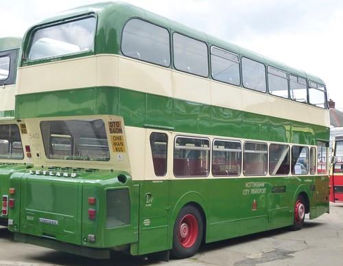 OTO 540M 'Nottingham City Transport' No. 540. Leyland Atlantean AN68 / East Lancs /2 on Dennis Basford's railsroadsrunways.blogspot.co.uk'