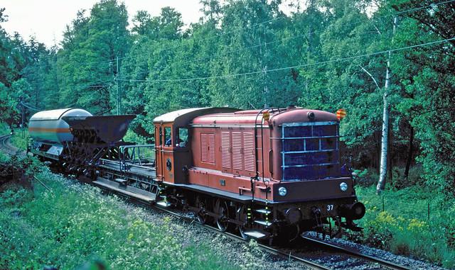 SJ V3 Nr. 37 in Stockholm (S), 1981.