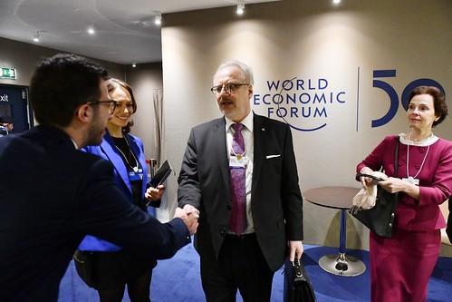 21.01.2020. Valsts prezidents Egils Levits piedalās Pasaules ekonomikas forumā Davosā, viņu pavada Andra Levites kundze