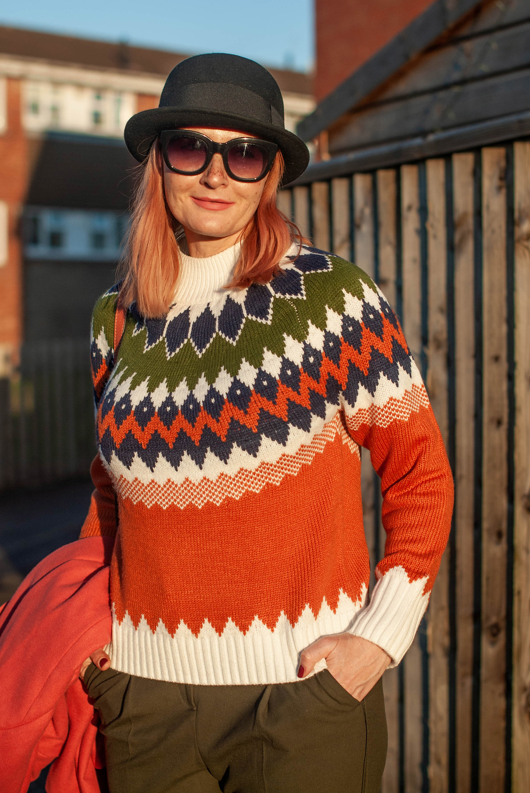 Bringing Back the Bowler Hat and a Modern Nordic Sweater | Not Dressed As Lamb, Style for Over 40 Women