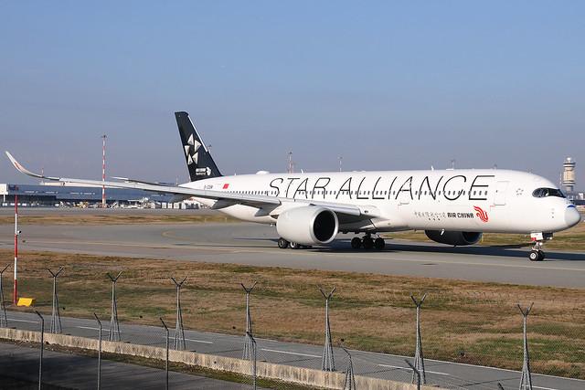 B-308M - Airbus A350-941 - Air China - Star Alliance livery 🇨🇳 @ MXP