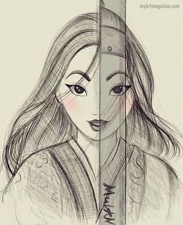 Drawing Mulan Cartoon