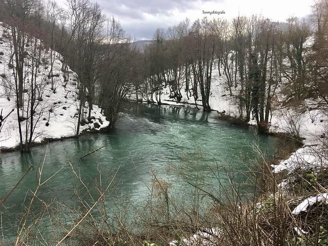 The Slunjčića river, a karst river near to Slunj, Croatia