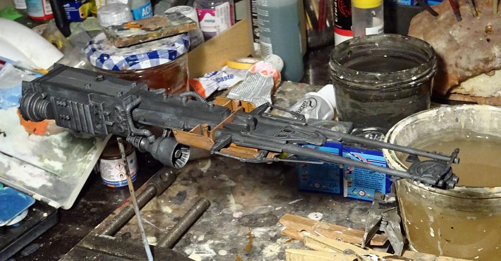 A non-canonical Star Wars Speeder Bike / Scout Trooper (Bandai kit set) - WiP