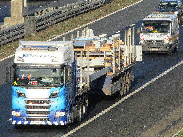 WS Transportation, Scania R450 (PJ19FNM) On The A1M Southbound