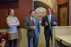State Representatives Craig Fishbein and Lezlye Zupkus, and State Senator Rob Sampson, held office hours at Cheshire McDonalds for constituents to express their concerns and share ideas.