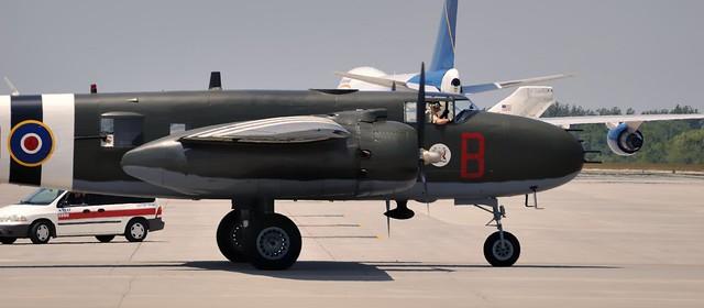 North American B-25J Mitchell bomber/gunship C-GCWM, 1945 - Mount Hope, Ontario.