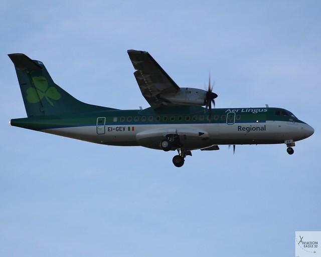 Aer Lingus Regional (Op by Stobart Air) ATR42-600 EI-GEV landing at DUB/EIDW