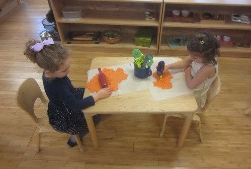 orange play dough