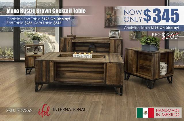Maya Rustic Brown Cocktail Table_IFD7862