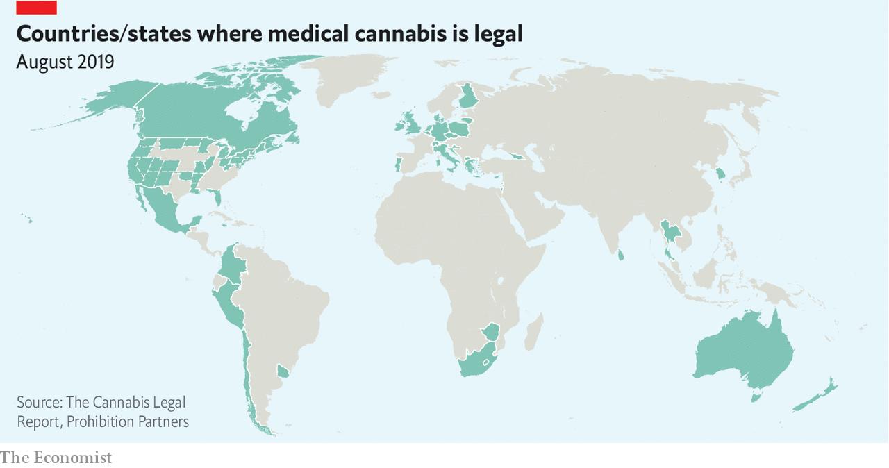 Countries where medical cannabis is legal