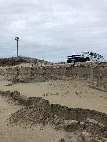 Six foot sand cliff at the entrance to Ramp 30