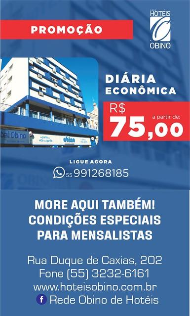 Aproveite a promoção da diária econômica do Hotel Obino em São Gabriel