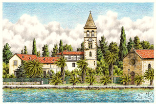 Franciscan monastery and church of St. Jerome in Vis, Croatia