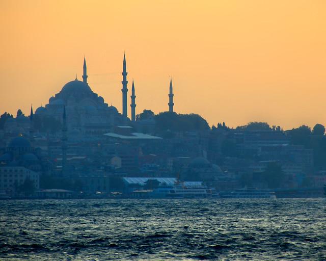 Mezquitas de Estambul al atardecer