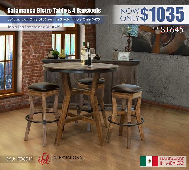 Salamanca Bistro Table & 4 Barstools_IFD8011