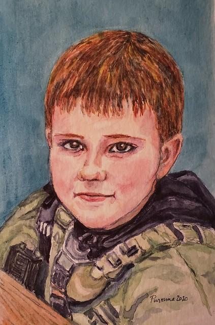 Grandson - watercolors