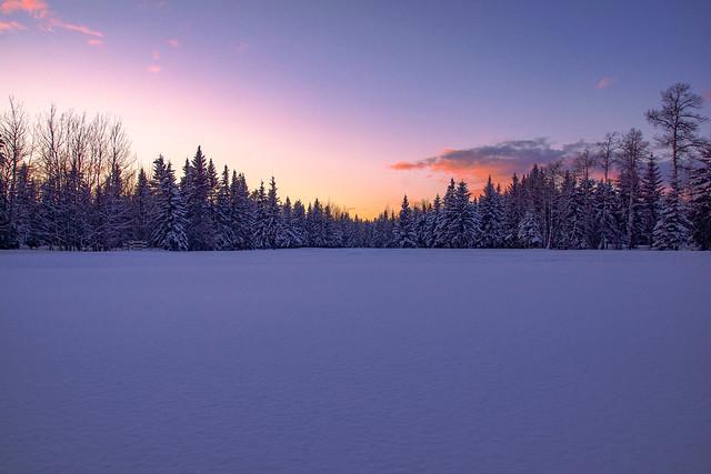 Sunset after a fresh snow