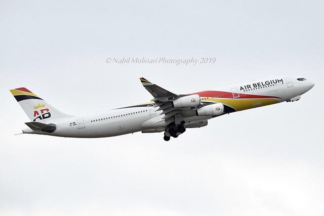 Air Belgium OO-ABB Airbus A340-313X cn/844 @ EGLL / LHR 17-05-2019