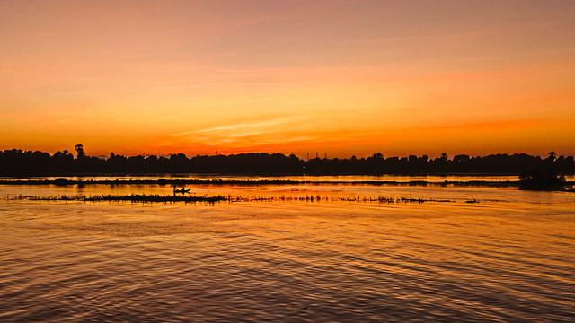 Fishing the Nile at Sunset